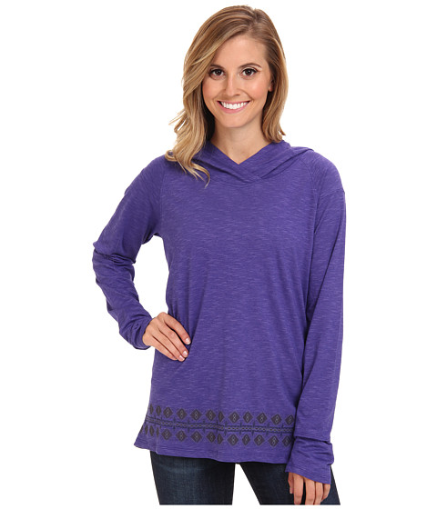Toad&Co - Maisie Hoodie (Blue Iris Border Print) Women's Long Sleeve Pullover