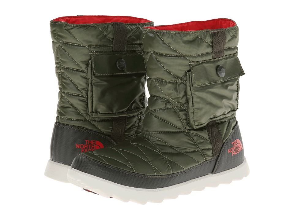 The North Face - ThermoBall Bootie (Shiny Grecian Green/Forest Night Green) Women