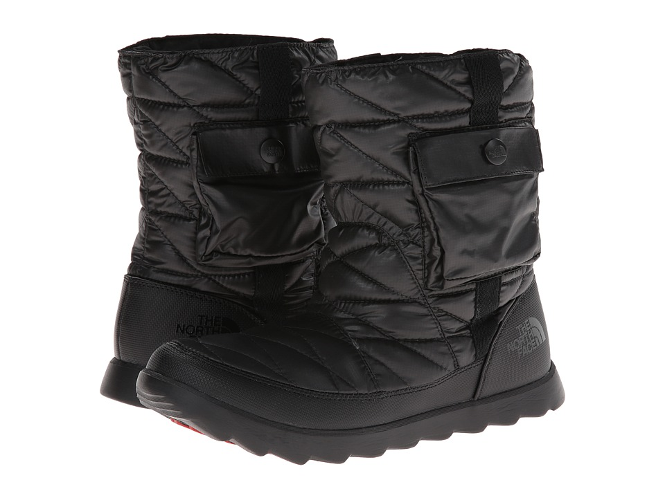 The North Face ThermoBall Bootie (Shiny TNF Black/TNF Black) Women