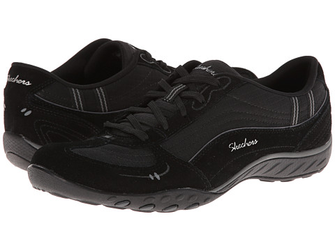 SKECHERS - Relaxed Fit: Breathe - Easy - Just Relax (Black/Charcoal) Women