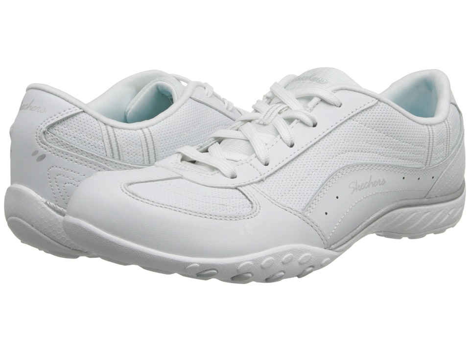 SKECHERS - Relaxed Fit: Breathe - Easy - Take Ten (White) Women's Lace up casual Shoes
