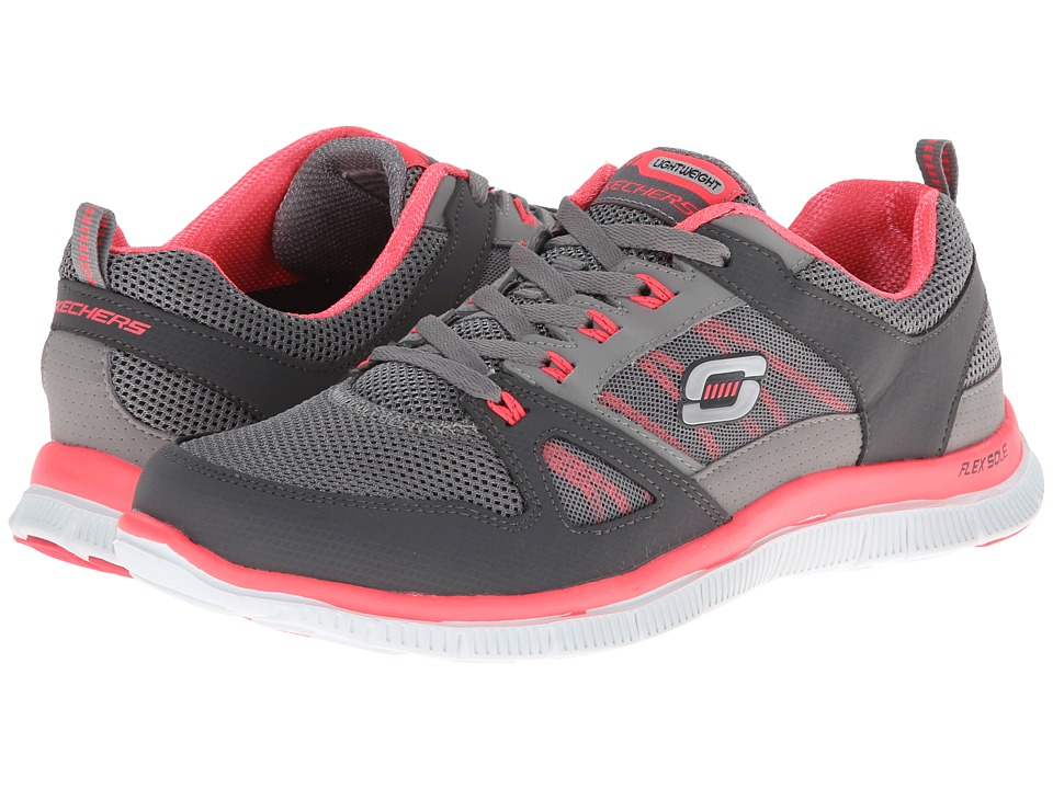 SKECHERS - Spring Fever (Charcoal/Hot Pink) Women