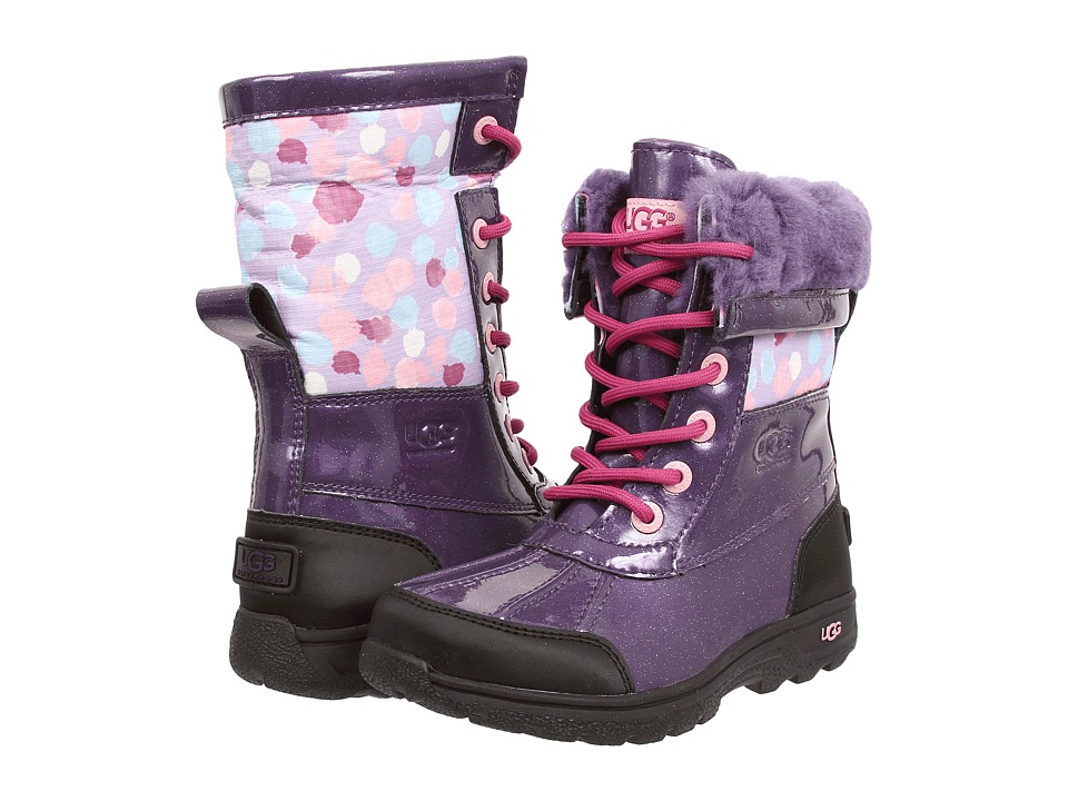UGG Kids - Butte II (Little Kid/Big Kid) (Purple Velvet Leather) Girls Shoes