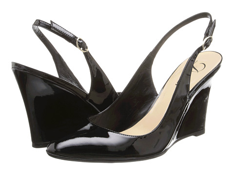 Delman - Rosa (Black Patent) Women's Wedge Shoes
