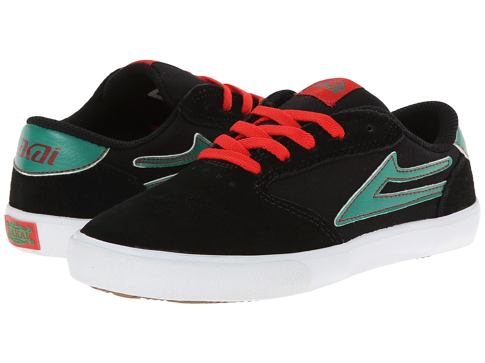 Lakai - Pico (Little Kid/Big Kid) (Black/Mint Suede) Men's Skate Shoes