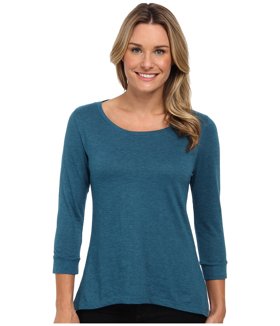 Toad&Co - Merger Three-Quarter Sleeve Tee (Moroccan Blue) Women