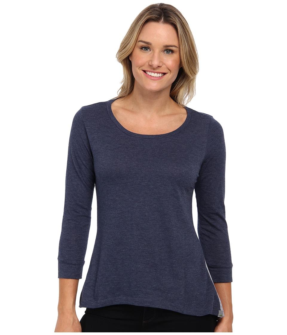 Toad&Co - Merger Three-Quarter Sleeve Tee (Blue Velvet) Women's Long Sleeve Pullover