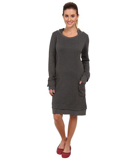 Toad&Co - Overpass Hooded Dress (Dark Graphite) Women