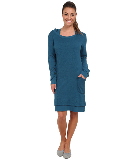 Toad&Co - Overpass Hooded Dress (Moroccan Blue) Women's Dress