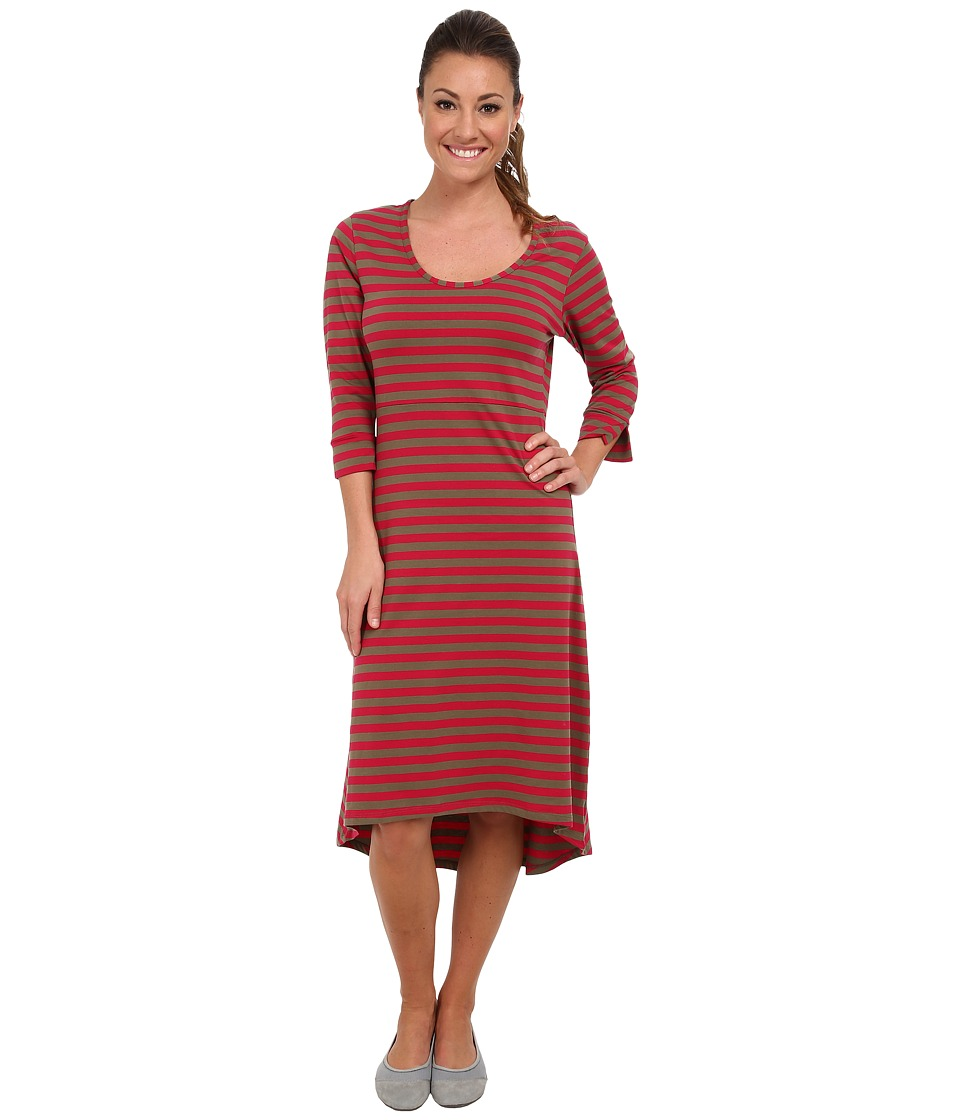 Toad&Co - Keyboard Dress (Driftwood/Lipstick) Women's Dress