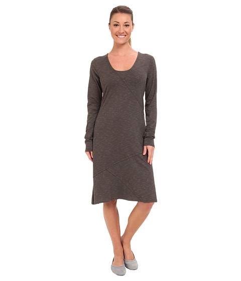 Toad&Co - Oblique V Dress (Dark Graphite) Women's Clothing