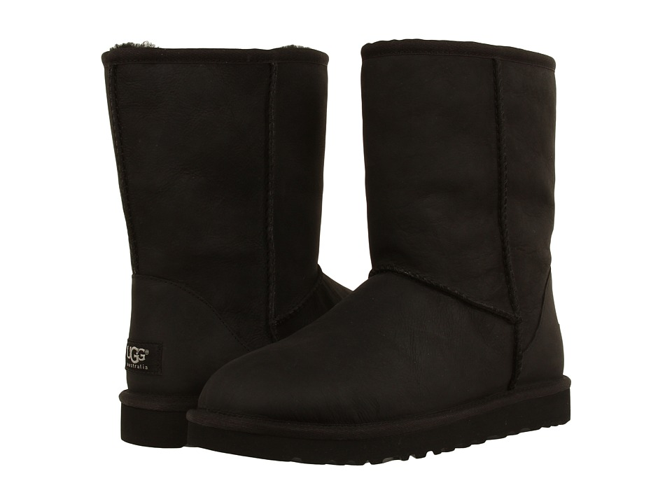 UGG Classic Short Leather (Black) Women