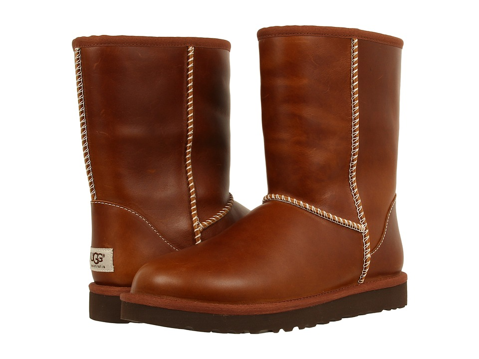 UGG - Classic Short Leather (Chestnut) Women's Cold Weather Boots