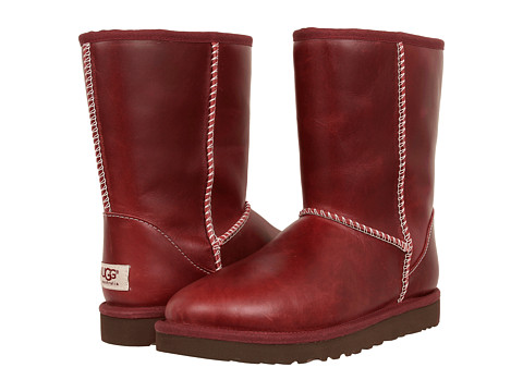 UGG - Classic Short Leather (Oxblood) Women