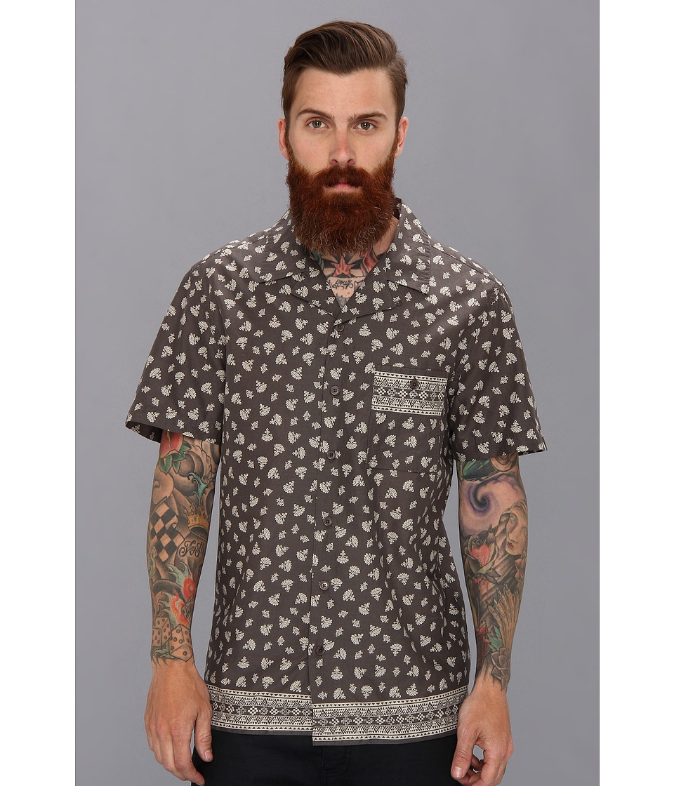 Andrew Marc x Richard Chai - Border Casual Shirt (Graphite) Men's Short Sleeve Button Up