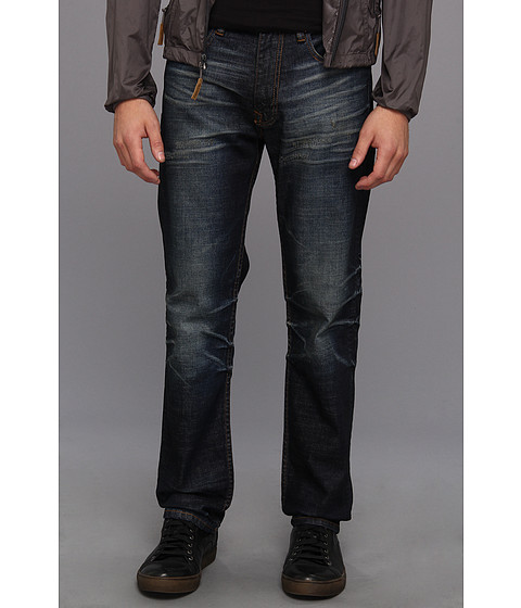 Andrew Marc x Richard Chai - 16 Straight Blue Athletic Denim Jean in Indigo (Indigo) Men's Jeans