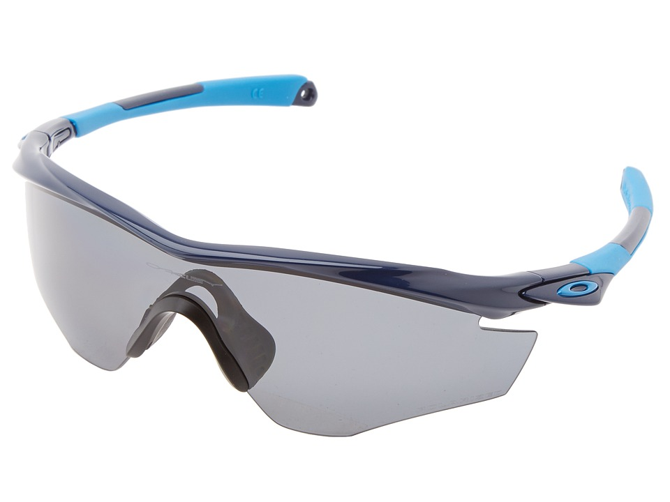 Oakley - M2 Frame (Polished Navy w/ Grey Polarized) Sport Sunglasses