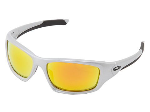 Oakley - Valve (Silver w/ Fire Iridium Polarized) Sport Sunglasses