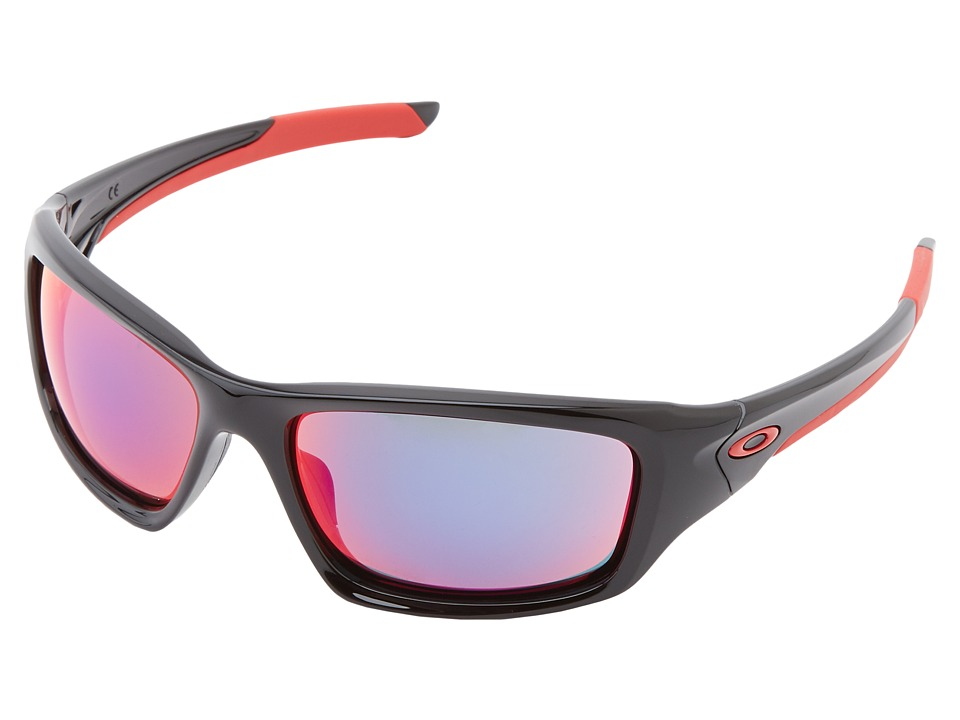 Oakley - Valve (Polished Black w/ Red Iridium) Sport Sunglasses