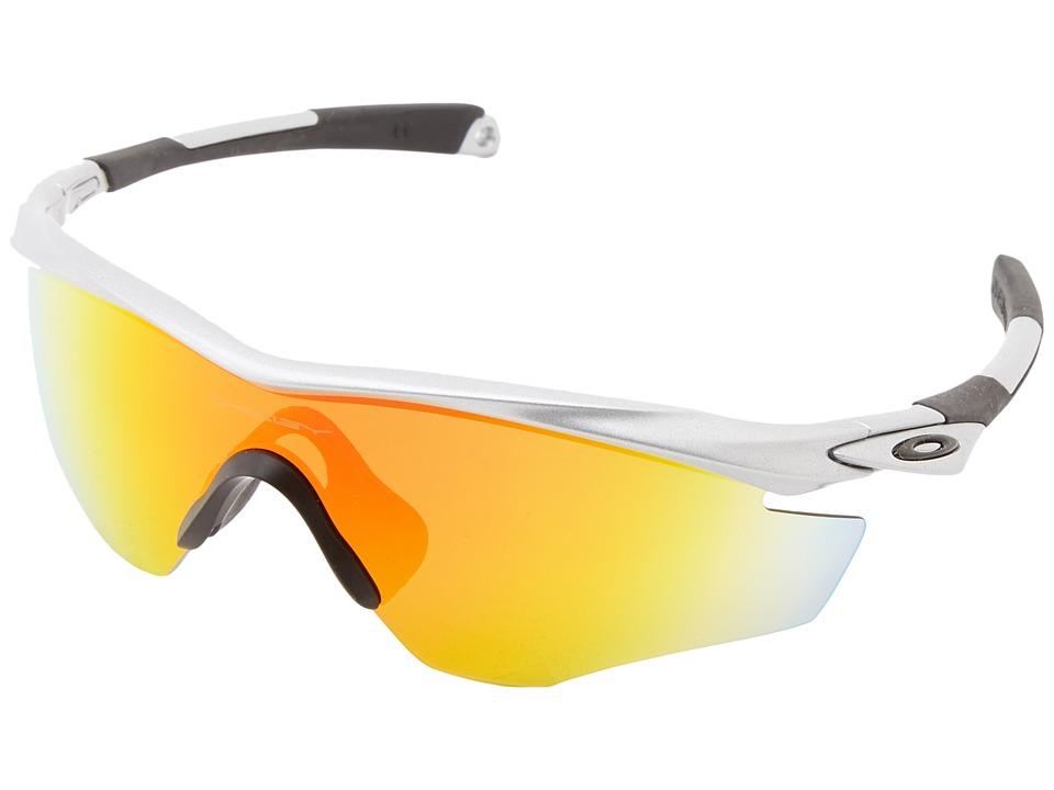 Oakley - M2 Frame (Silver w/ Fire Iridium) Sport Sunglasses
