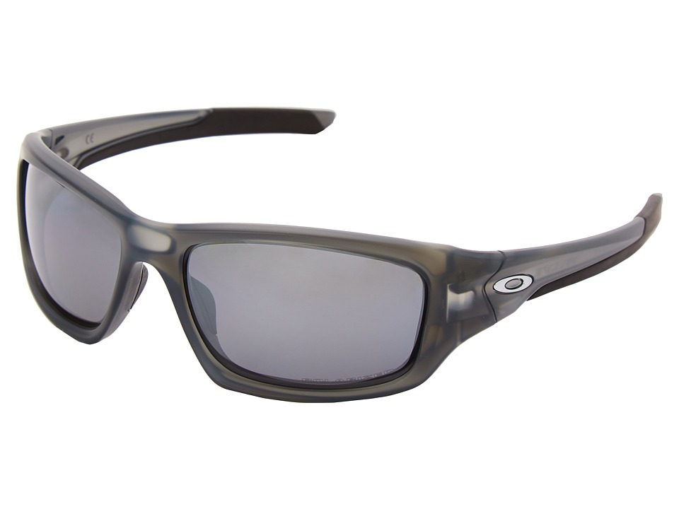 Oakley - Valve (Matte Grey Smoke w/ Black Iridium Polarized) Sport Sunglasses