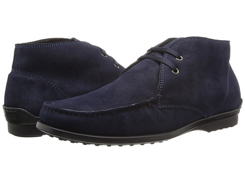 a. testoni - Barbour Suede Chukka Boot (Navy) Men's Boots