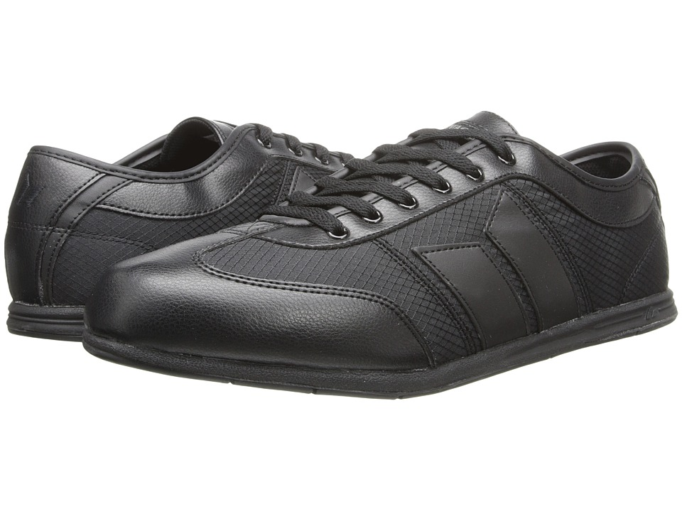 Macbeth - Brighton (Black/Black Synthetic Leather/Spider Nylon) Men's Skate Shoes