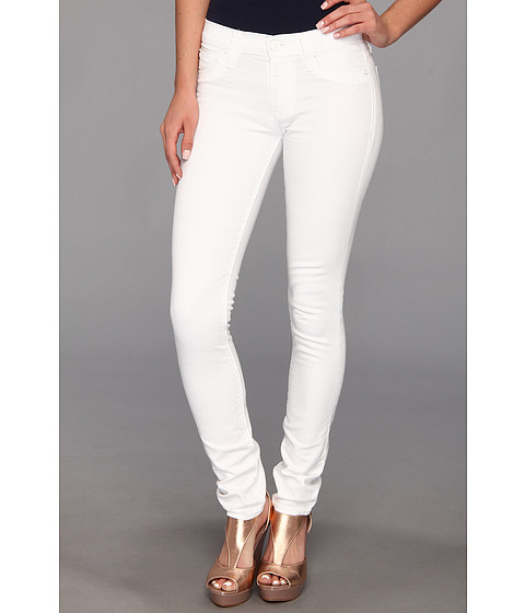 Hudson - Collette Mid-Rise Skinny in White (White) Women's Jeans
