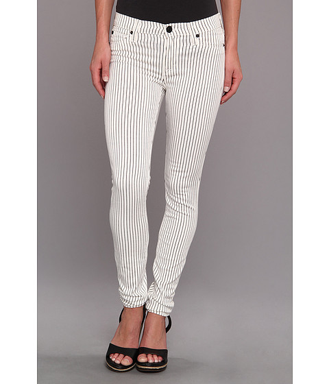 Hudson - Nico Mid-Rise Super Skinny in Blitzed Black Pinstripe (Blitzed Black Pinstripe) Women's Jeans