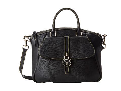 Dooney & Bourke - Samba Large Slim Satchel (Black w/ Black Trim) Satchel Handbags