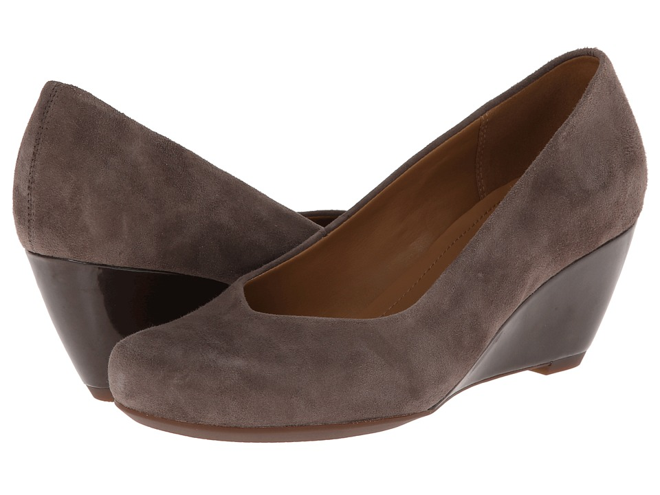 Clarks - Bassett Mine (Grey Suede) Women's Shoes