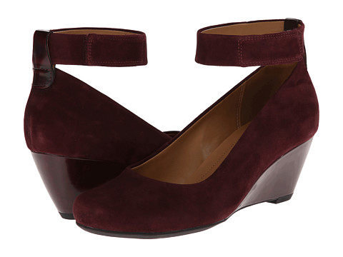 Clarks - Bassett Mist (Burgundy Suede) Women's Shoes