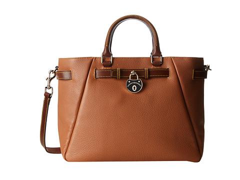 Dooney & Bourke - Samba Large Belted Shopper (Saddle w/ Chestnut Trim) Tote Handbags