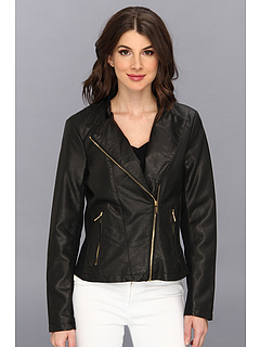 SALE! $90.99 - Save $69 on Calvin Klein Faux Leather Moto Jacket (Black) Apparel - 42.95% OFF $159.50