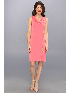 SALE! $47.99 - Save $32 on Calvin Klein S L Solid Zipper Dress (Daiquiri) Apparel - 39.64% OFF $79.50
