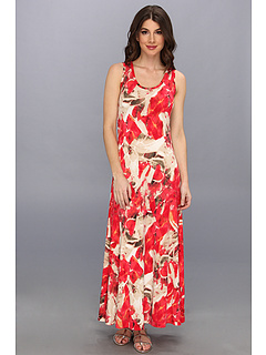 SALE! $74.99 - Save $55 on Calvin Klein Printed Maxi Dress (Pink Multi) Apparel - 42.09% OFF $129.50