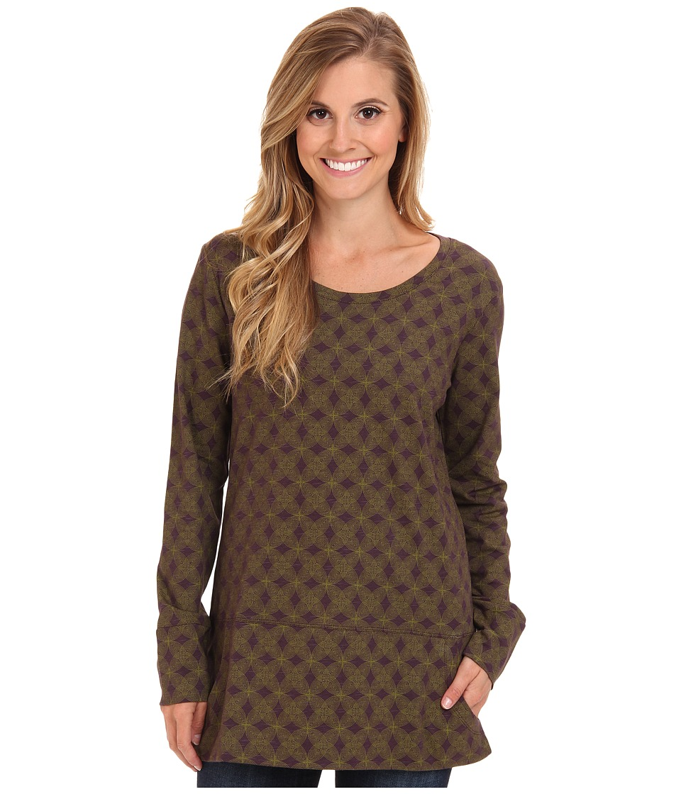 Toad&Co - Ursa Tunic (Dark Plum Print) Women's Long Sleeve Pullover