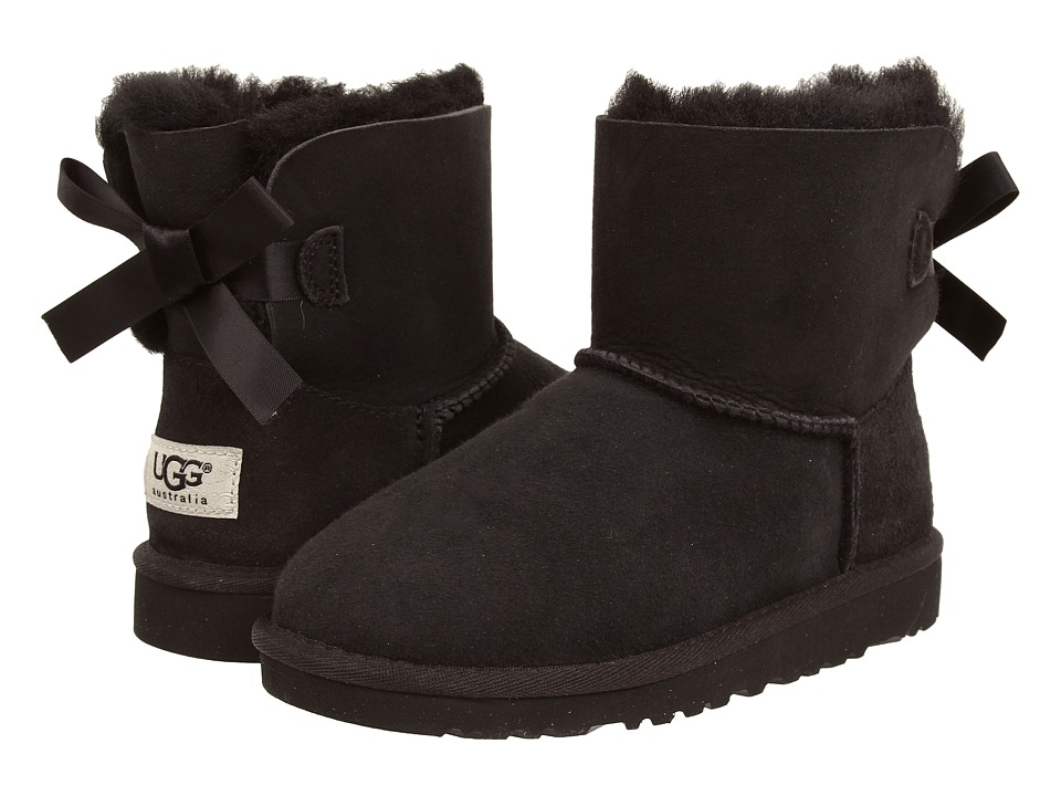 UGG Kids - Mini Bailey Bow (Little Kid/Big Kid) (Black) Girls Shoes