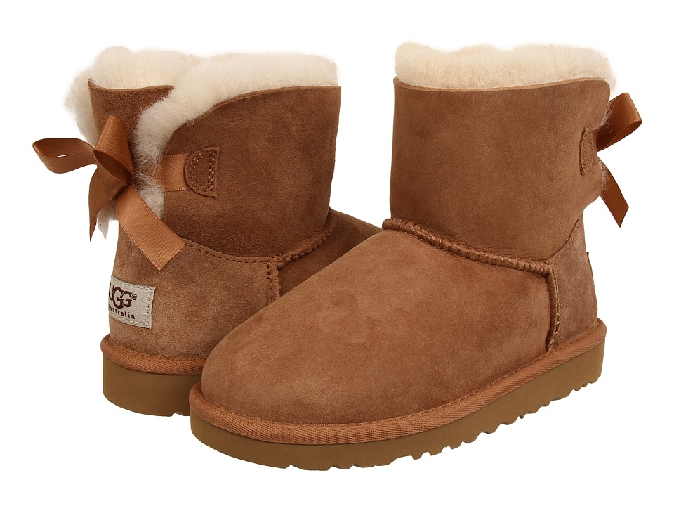 UGG Kids - Mini Bailey Bow (Little Kid/Big Kid) (Chestnut) Girls Shoes