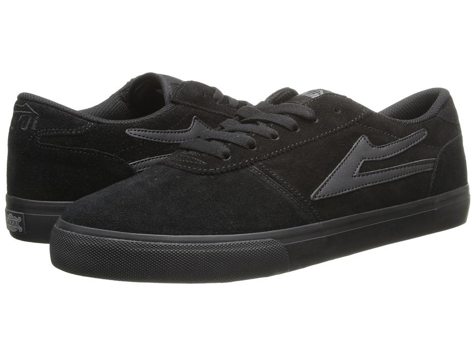 Lakai - Manchester Select (Black/Black Suede) Men's Skate Shoes