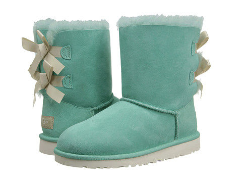 Shoes Online Sale UGG Kids Bailey Bow (Little Kid/Big Kid) (Surf Spray) Girls Shoes