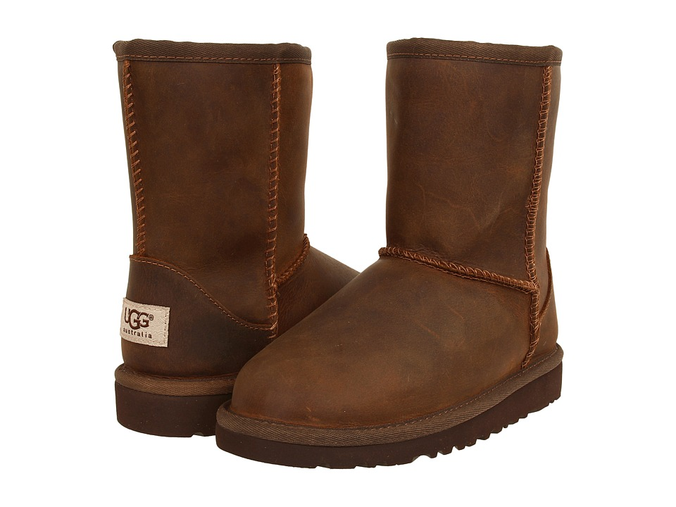 UGG Kids - Classic Short Leather (Little Kid/Big Kid) (Chestnut) Kids Shoes