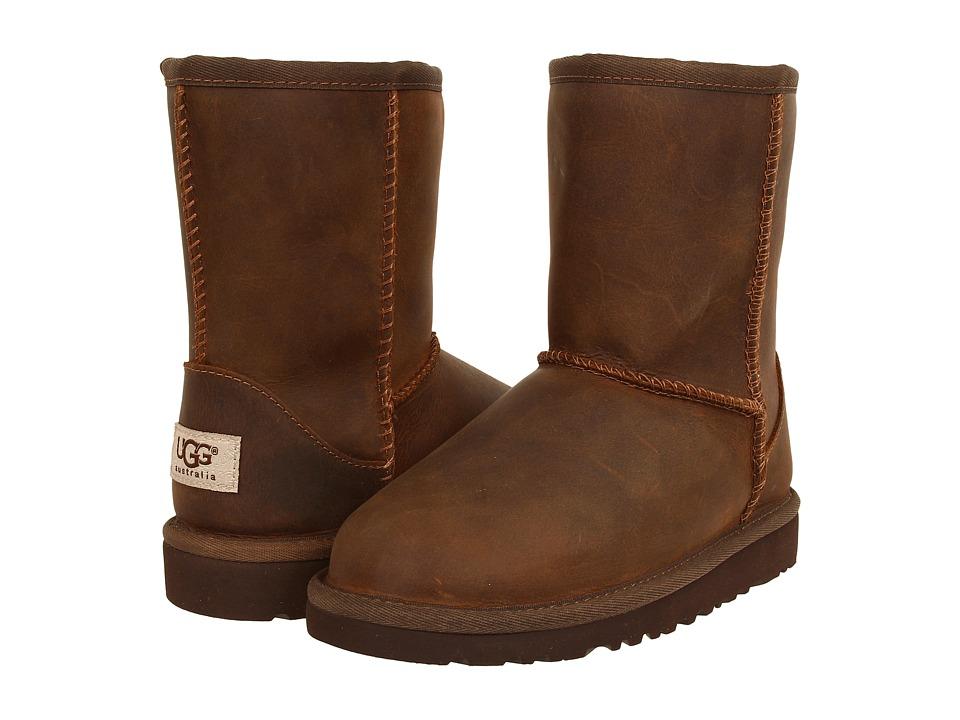 UGG Kids - Classic Short Leather (Little Kid/Big Kid) (Chestnut) Kids Shoes