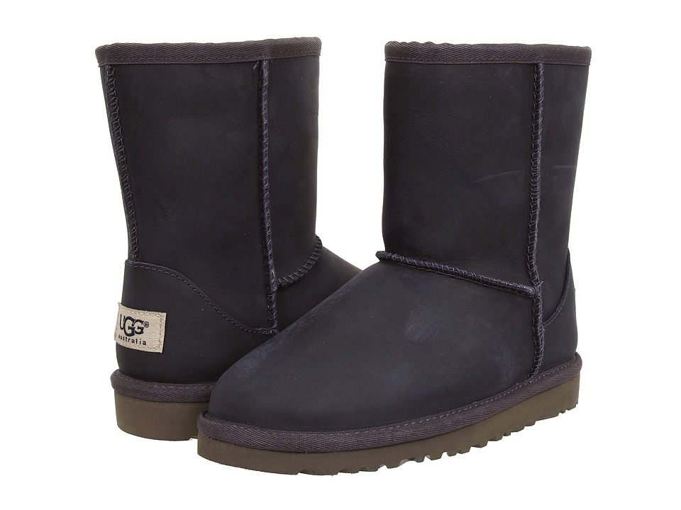 UGG Kids - Classic Short Leather (Little Kid/Big Kid) (Peacoat) Kids Shoes