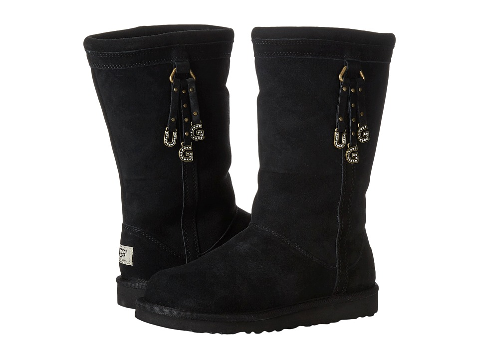 UGG Kids - Larynn (Little Kid/Big Kid) (Black) Girls Shoes