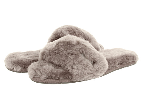 Grey Ugg Fluff Slippers
