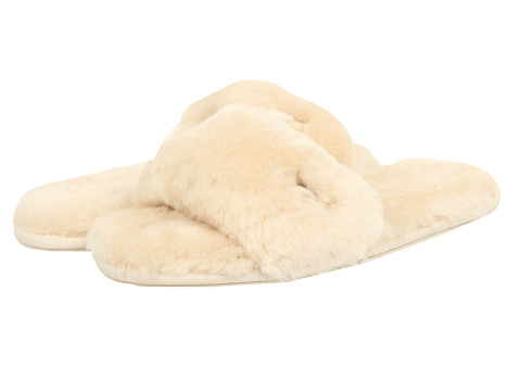 UGG - Fluff Slide (Natural) Women's Shoes