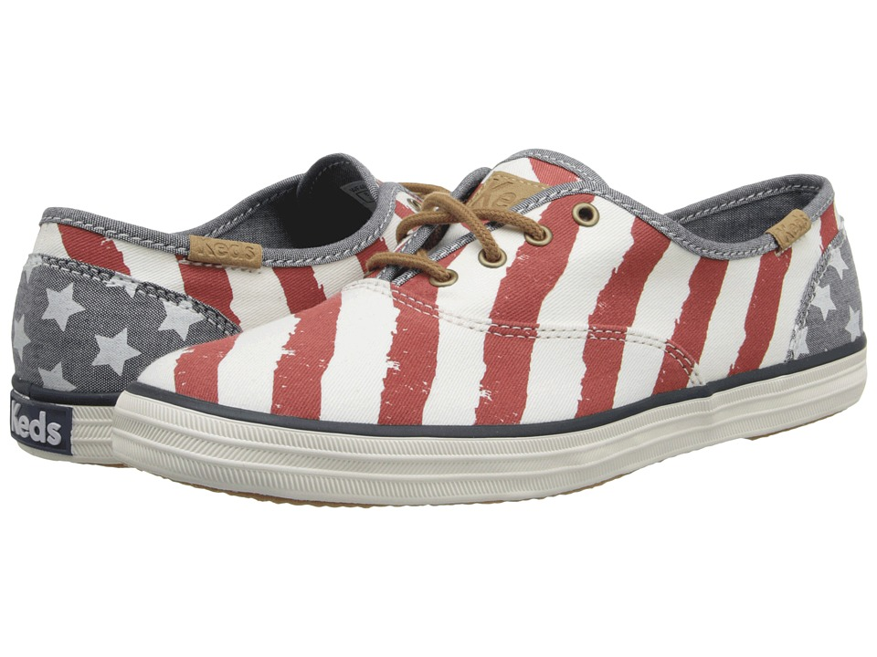 Keds Champion Patriotic (Red/Cream) Women