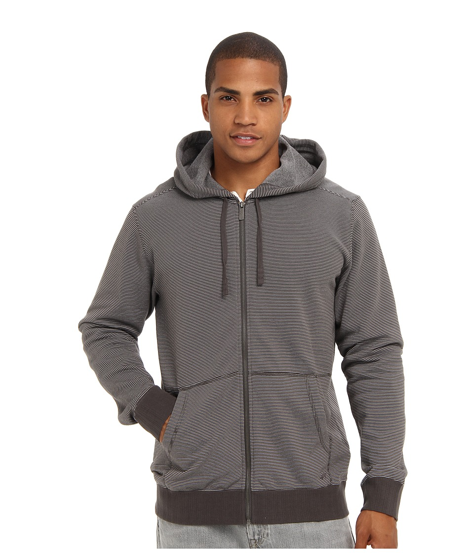 Toad&Co - Bandwidth Hoodie (Dark Graphite/Egret) Men's Fleece
