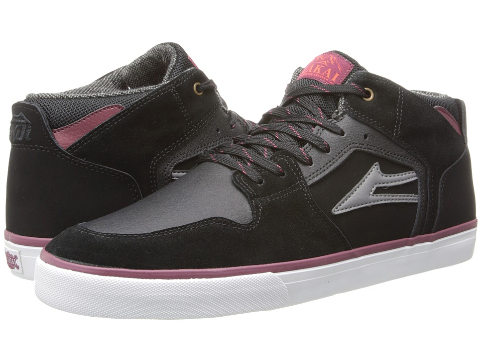 Lakai - Telford (All Weather) (Black Suede) Men's Skate Shoes